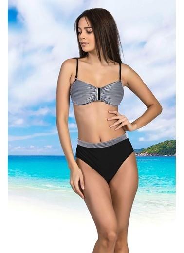 Nbb Jakarlı Straplez Bikini Takımı 51190-2999 Saks